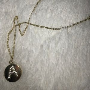 Jewelry - 'A' initial necklace
